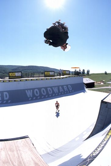 Rider: Brian Wainwright<br> Trick: 540<br> Spot: Camp Woodward<br> Photographer: Chris Hallmen<br> Date: 1999